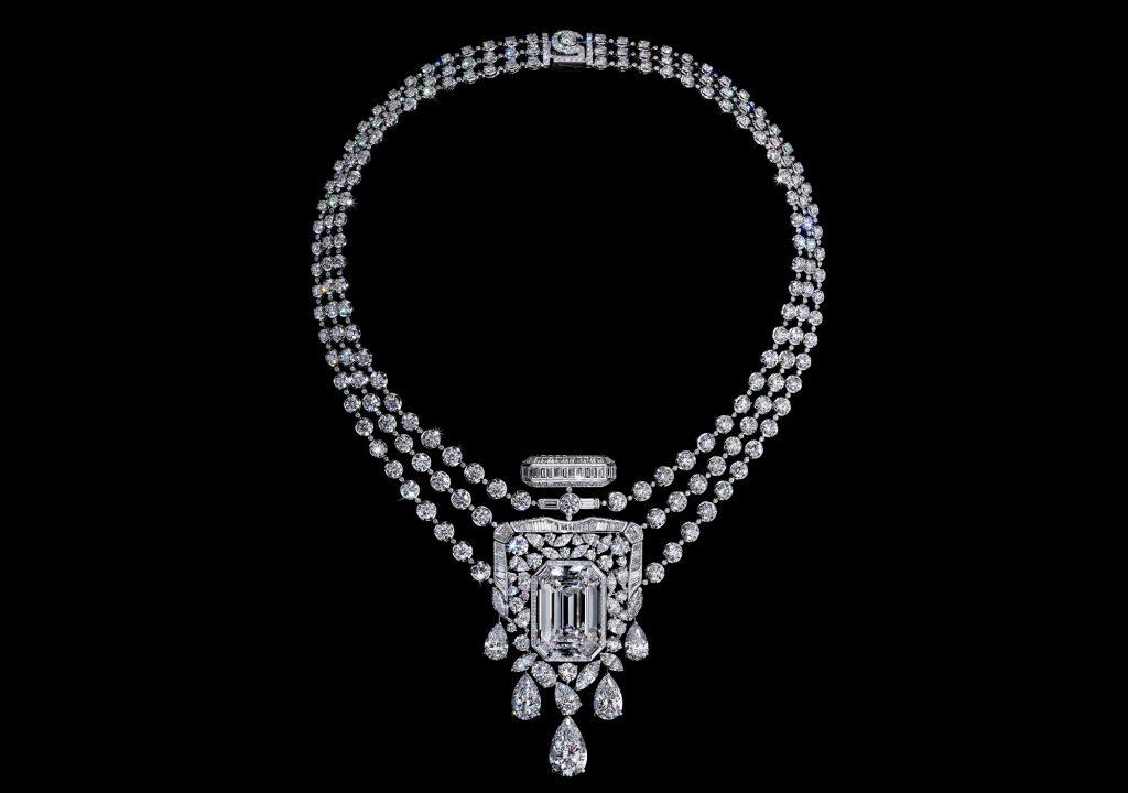 CHANEL N°5 香水, CHANEL N°5, 香水, CHANEL, 經典香水, N°5 香水, 高級珠寶, 珠寶, Diamond, 鑽石頸鍊, 鑽石項鍊, CHANEL N°5 55.55, 鑽石, Patrice Leguéreau, CHANEL 珠寶, CHANEL Jewellery,
