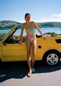 jimmy choo_monogram_swimwear_yellow_car