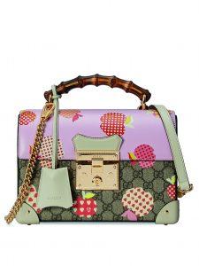 Gucci-Les-Pommes-Small-Padlock-Bag-monogram-pink-bamboo